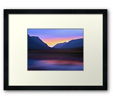 Mountain Dusk Framed Print