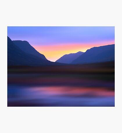 Mountain Dusk Photographic Print