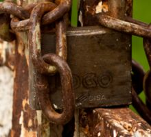 The Rusted Lock Sticker
