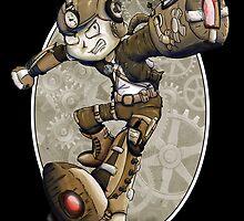 Steampunk Mega Man by BunnyMaelstrom