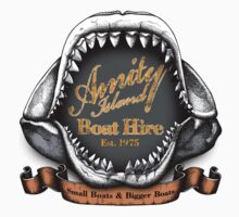 Amity Island Boat Hire - Sticker by rubyred