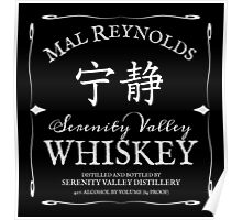 Mal Reynolds Serenity Valley Whiskey Poster