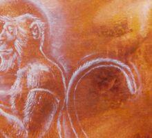 Hanuman - from ape to angel Sticker