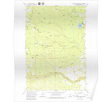 USGS Topo Map Oregon Rock Creek Reservoir 281294 1962 24000 Poster