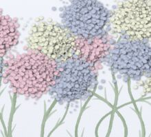 Pastel Cotton Ball Flower Scene Sticker