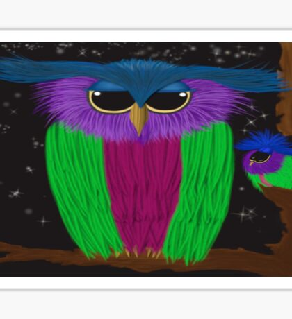 The Prismatic Crested Owl Sticker