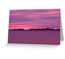 Outer Hebrides Dusk Greeting Card