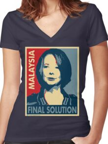 Julia - Final Solution  Women's Fitted V-Neck T-Shirt