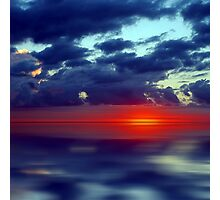 Over the Edge Sunset Photographic Print