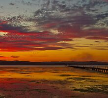Long Jetty On Fire | New South Wales | Australia by Bryan Freeman