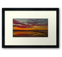 Long Jetty On Fire   New South Wales   Australia Framed Print