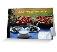 Vegetables For Sale Greeting Card