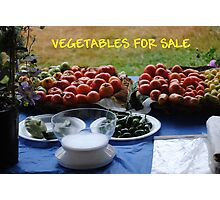 Vegetables For Sale Photographic Print