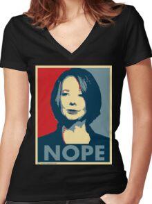 Julia Gillard - Nope Women's Fitted V-Neck T-Shirt