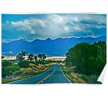 US Highway 89, Heading Toward the Absaroka  Range Poster