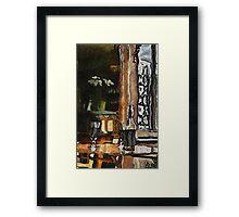 Vincent's table? Auberge Ravoux, France Framed Print
