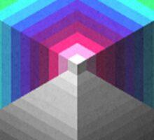 Cubes + Pyramids Sticker