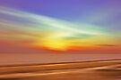 Rainbow Sky over the beach by David Alexander Elder