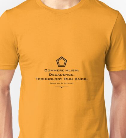 Remind You Of Anything? Black Unisex T-Shirt