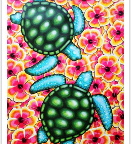 Hibiscus Sea Sticker