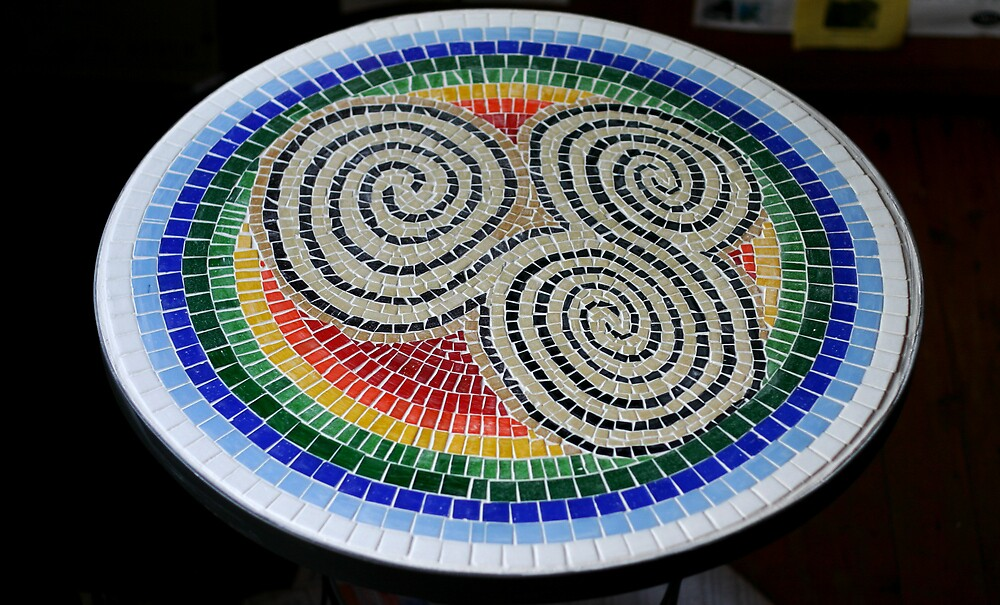 Triskele Mosaic Table by jocelynh