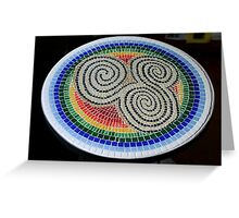 Triskele Mosaic Table Greeting Card