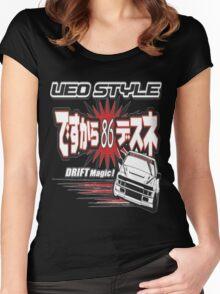 Ae86 Ueo Drift Magic Women's Fitted Scoop T-Shirt