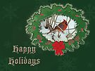 Happy Holidays Card - Redbird by MotherNature