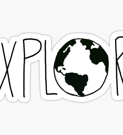 Explore the Globe III Sticker