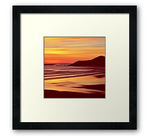 Sleep Tight Sunset Framed Print