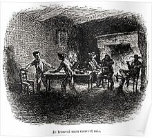 Achille Sirouy Mark Twain Les Aventures de Huck Huckleberry Finn illustration p118 Poster