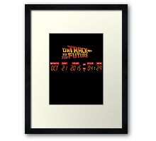 On Track to The Future Time Panel Framed Print