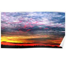 Colourful skies over NYC  Poster
