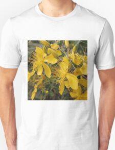 Hypericum flowers on a shrub Unisex T-Shirt