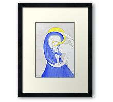 Mary, Joseph and child Framed Print