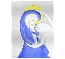 Mary, Joseph and child Poster