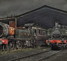 Trains in HDR by Catherine Hamilton-Veal  ©