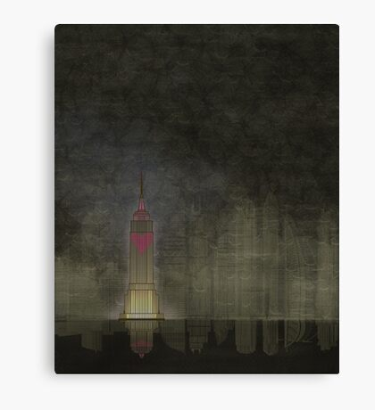 Empire State Building Sleepless in Seattle ... It's a sign. Canvas Print