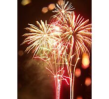Rainy Fireworks Photographic Print