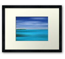 Tropical Desert Island Framed Print
