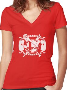Smash Arms Women's Fitted V-Neck T-Shirt