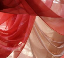 drapery of colored silks Sticker