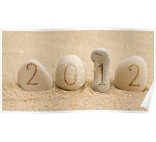 2012 stones and sand Poster