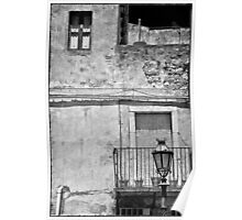Old house in Taormina, Sicily Poster