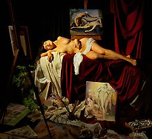 The death of Painting - La muerte de la Pintura by Aurelio Monge