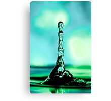 Green Water Tower Canvas Print