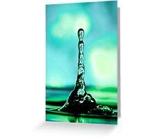 Green Water Tower Greeting Card