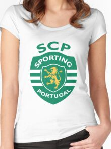 Sporting Clube de Portugal Women's Fitted Scoop T-Shirt