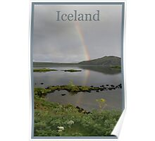Nature Series/Rainbow Lake/Iceland Poster