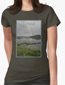 Nature Series/Rainbow Lake/Iceland Womens Fitted T-Shirt